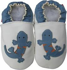 shoeszoo gecko white 12-18m S soft sole leather baby shoes