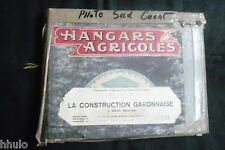Album photo ancien Construction Garonnaise Hangar Agricole Toulouse Tarn Usine