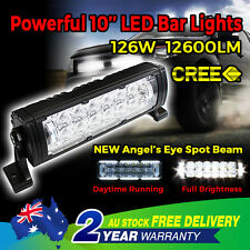 10'' 126W LED CREE 5D LENS LED Light Bar Spot Work 4WD OFFROAD Boat Driving