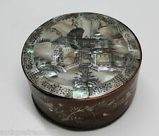 Rare fine antique vietnam chinese box XIXe mother of pearl and wood, boite