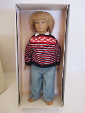 Heidi Ott - HEINZ - Handmade Swiss design Doll Human Hair 13 in signed Orig. Box