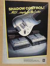 vintage magazine advert 1988 SHADOW MIDI GUITAR