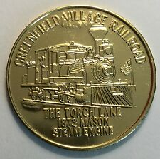 Greenfield Village Railroad Henry Ford Museum Coin Medal Train Locomotive