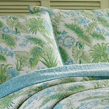 TOMMY BAHAMA Sauters Isle Lagoon Blue Tropical Floral Full/Queen Quilt