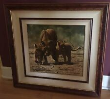 "CRAIG BONE ""CUB SCOUTS"", SIGNED GICLEE/CANVAS, FRAMED, LIONS 471/600"