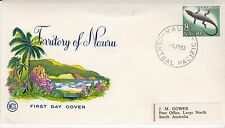 First day cover, Nauru, black lizard definitive, Scott #54, WCS cachet, 1963
