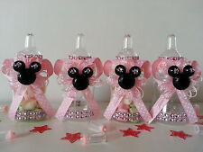 12 Minnie Mouse Pink Fillable Bottles Baby Shower Favors Prizes Game Girl Decor