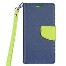 For LG Tribute HD Premium Leather 2 Tone Wallet Case Pouch Flip Phone Cover