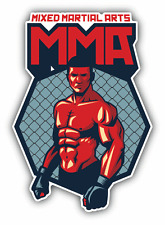 "Fighter Mixed Martial Arts Car Bumper Sticker Decal 4"" x 5"""