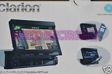 "CLARION NZ503 7"" DVD CD USB iPod Sat Ready Bluetooth Navigation Stereo Receiver"