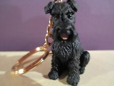 SCHNAUZER BLACK UNCROPPED   ~ KEY CHAIN ~ GREAT GIFT ITEM