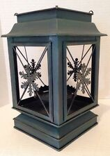 New! Bath & Body Works 2014 Snowflake Lantern Luminary Candle Holder