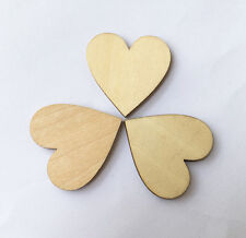 3cm/30mm MDF HEARTS x 50 LASER CUT MDF WOODEN SHAPE Wood Craft Arts Decoration