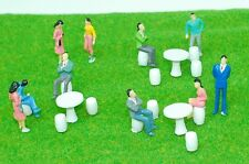 O scale 1:50 figures for Model Train Layout Railway ( Round Table with chairs )