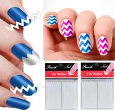 Fashion Nail Art French Manicure Guide ZiG ZaG Tips Manicure Stickers Stencils