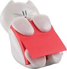 Post-it® Cat-330 Z-Notes Spender mohnrot Katze inkl. 1 Block Post-it Super Stick