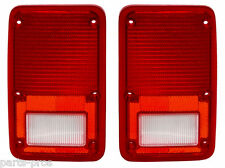 New Replacement Taillight Lens PAIR / FOR 1978-82 DODGE FULL-SZE VAN