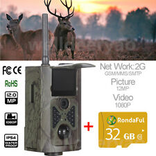 HC500M 2G SMS MMS 12MP Hunting Scouting Game Trail Camera+Extra 32GB TF Card