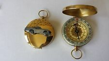 Volvo P 1800S ref279 pewter effect car on a emblem on a Golden Compass