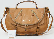 ALEXANDER MCQUEEN Faithful Medium Polished Leather Handbag Tan Satchel