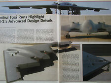 7/1989 ARTICLE 8 PAGES NORTHROP B-2 STEALTH BOMBER TAXI TESTS PALMDALE AIRPORT