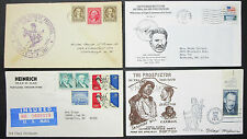 US postage set of 4 covers Letters Seneca Trail Illustrated usa lettere (h-8310