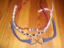 *NEW* Multicolor Handmade Infinity Love Eternal Friendship Bracelets, set #7