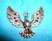 Pendant Bird Charm Hawk Bald Eagle Audubon Society Winged Animal Military Charm