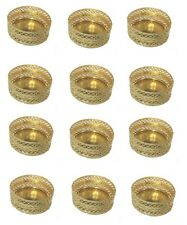 12 Gold Tea Light Holders -  Diwali, Christmas, Parties -  Indian - Mesh Design