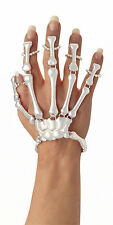 Skeleton white bone hand jewellery bracelet Halloween voodoo costume  accessory