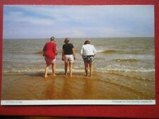 POSTCARD ESSEX FRINTON ON SEA - PADDLING OUT TO THE SEA