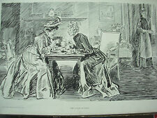 ANTIQUE 1905 PRINT CHARLES DANA GIBSON - THE LATEST SCANDAL
