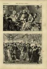 1875 Purchasing Decorations For Christmas Tree Lowther Arcade Family Gathering