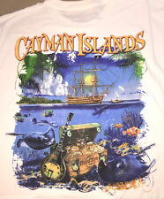 Hard Rock Cafe CAYMAN ISLANDS 2015 White City Tee T-SHIRT XL New Tag PIRATE SHIP