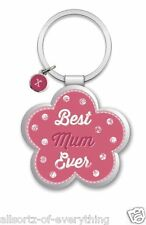 Best Mum Ever Little Wishes Metal Keyring Lovely Birthday Christmas Gift Idea