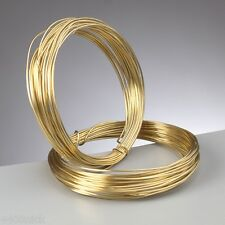 0.6 mm (22 gauge) BRASS PLATED JEWELLERY WIRE x 10 metres