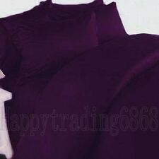Dark Purple EGYPTIAN QUALITY * 4pc DOUBLE BED SHEET SET * Brand New !!