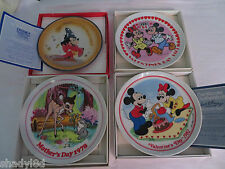 DISNEY SCHMID PLATES Fantasia MICKEY MINNIE Bambi Mothers Day Valentines Day