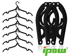 IPOW 6pcs Foldable Plastic Clothes Hangers for Travel Camping Home Organization