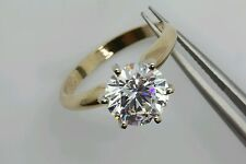 .50ct Solitaire 14k solid gold man-made diamond ring