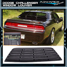 2008-2016 Dodge Challenger Rear Window Louver Unpainted Black Cover PUR