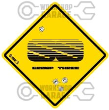 Holden VK SS Group 3 Commodore  - Bullet Hole Road Sign Sticker #25