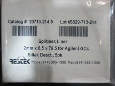 Restek - 2.0 mm ID Straight Inlet Liner, Part# 20713-214.5, Agilent GC Liner