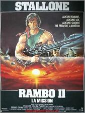 RAMBO 2 First Blood Part II Affiche Cinéma / Movie Poster SYLVESTER STALLONE