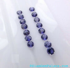 AAA Quality 25 Piece Natural Iolite 4x4 MM Round Cut Loose Gemstone