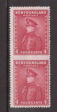 Newfoundland #189b Mint Imperf Vertical Pair