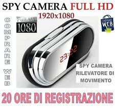 SVEGLIA OROLOGIO SPIA SPY CAMERA 1920x1080 MOD. V9 MOTION DETECTION MICROSPIA