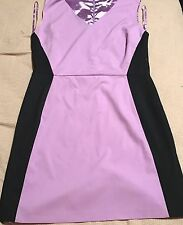 Woman's New York & Company Plus Size 18 Purple N Black 1/2 Zip Back (b22)