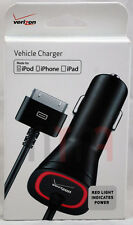New Verizon 5v 2.1 AMP 30-Pin Vehicle 9 Foot Car Charger for iPhone 3/3GS 4/4S