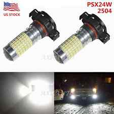 US 2800LM 2504 PSX24W 12276 High Power 144-SMD Xenon White LED Fog Lights Bulb